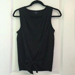 GAP Sleeveless Bow Tie Blouse Top Black
